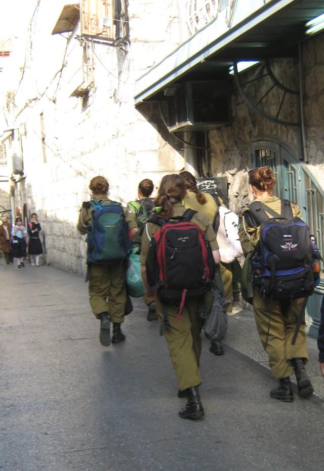 female soldiers , IDF photos