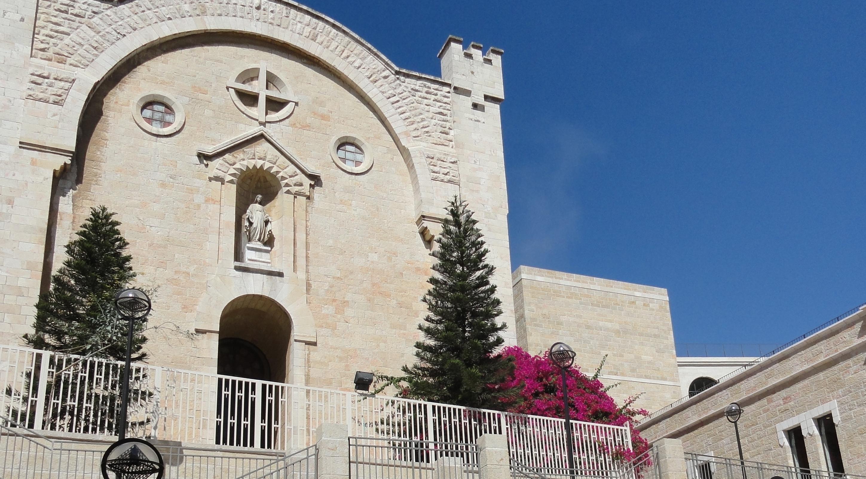 blue sky Jerusalem image