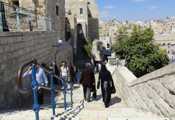 Muslim women walking in Old City