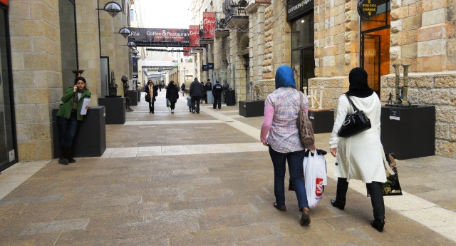 Arab women shopping in Jerusalem