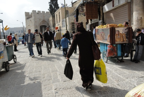 Arab woman alone in Old city