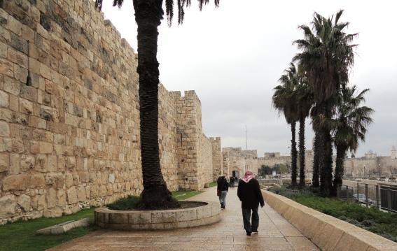 """Arab man"", ""Muslim prayer in Jerusalem"""
