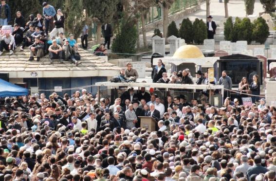 speaker at Fogel funeral