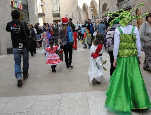 """Purim costumes"" ""Mamilla Mall"""