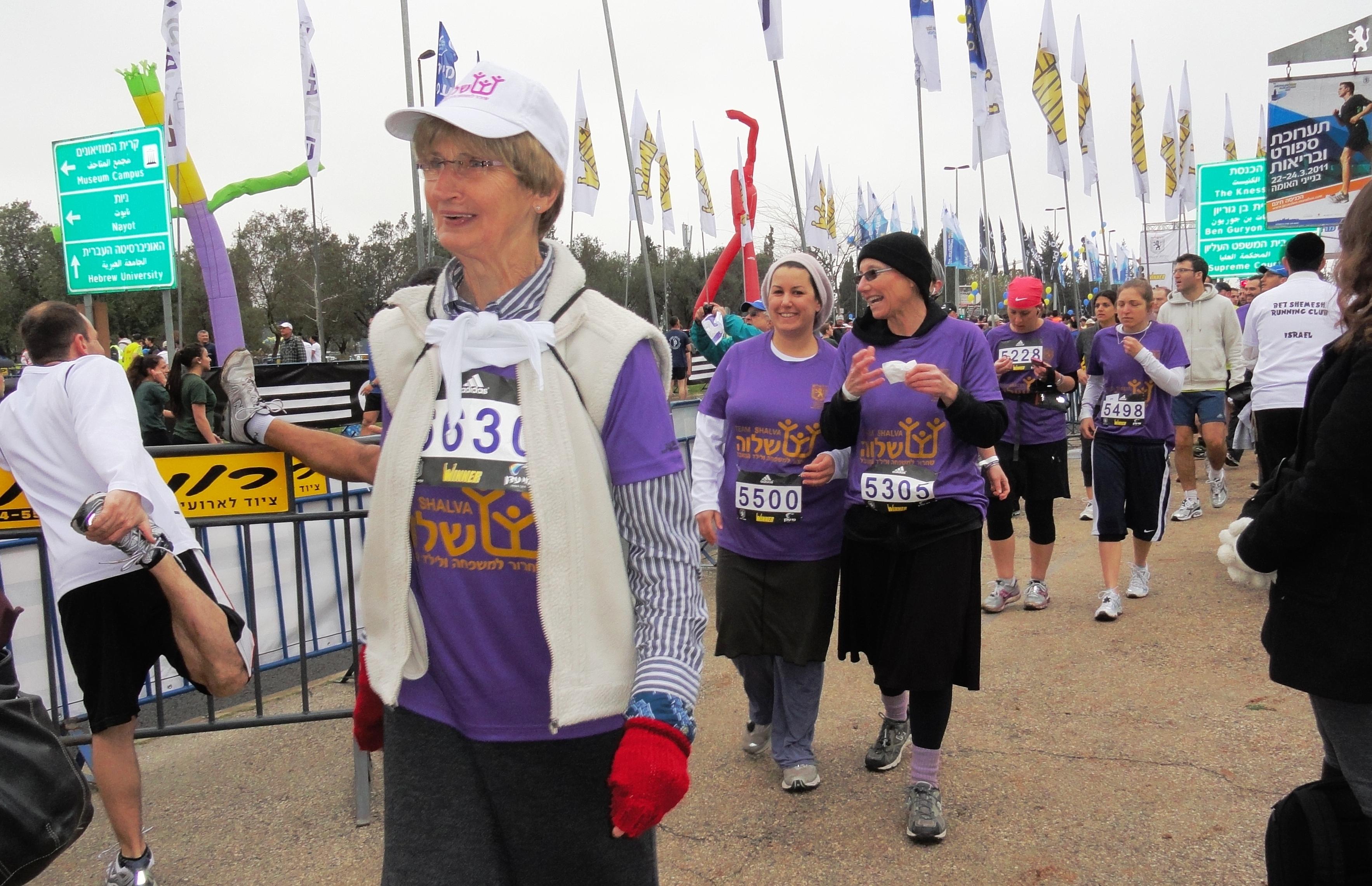 Shalva image, Shalva runners in Jerusalem marathon