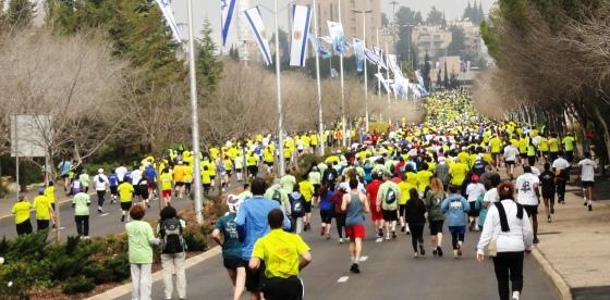 10 k race image, Jerusalem 10 kilometer run image