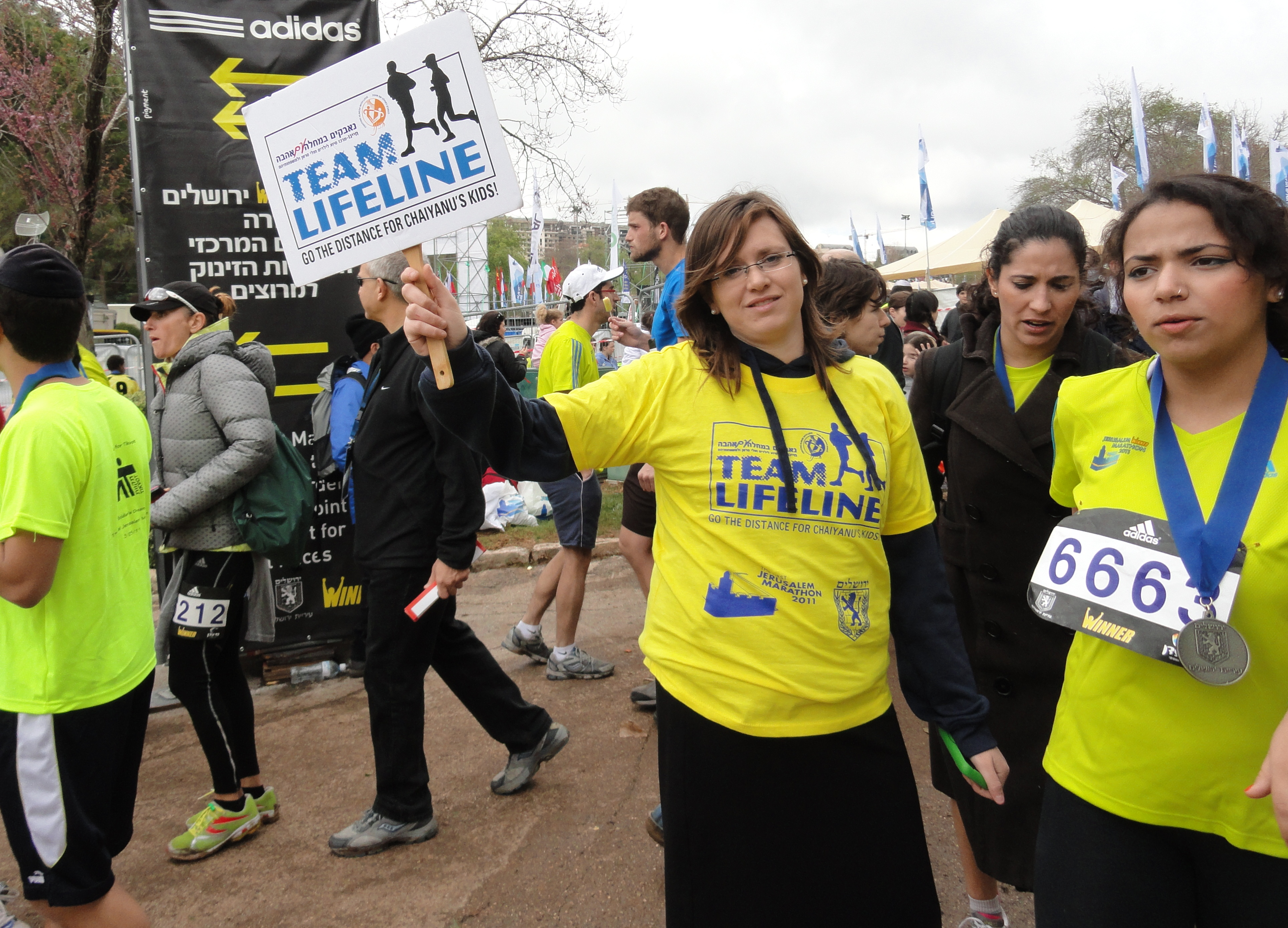 Chai Life line image, Chai Lifeline runners image