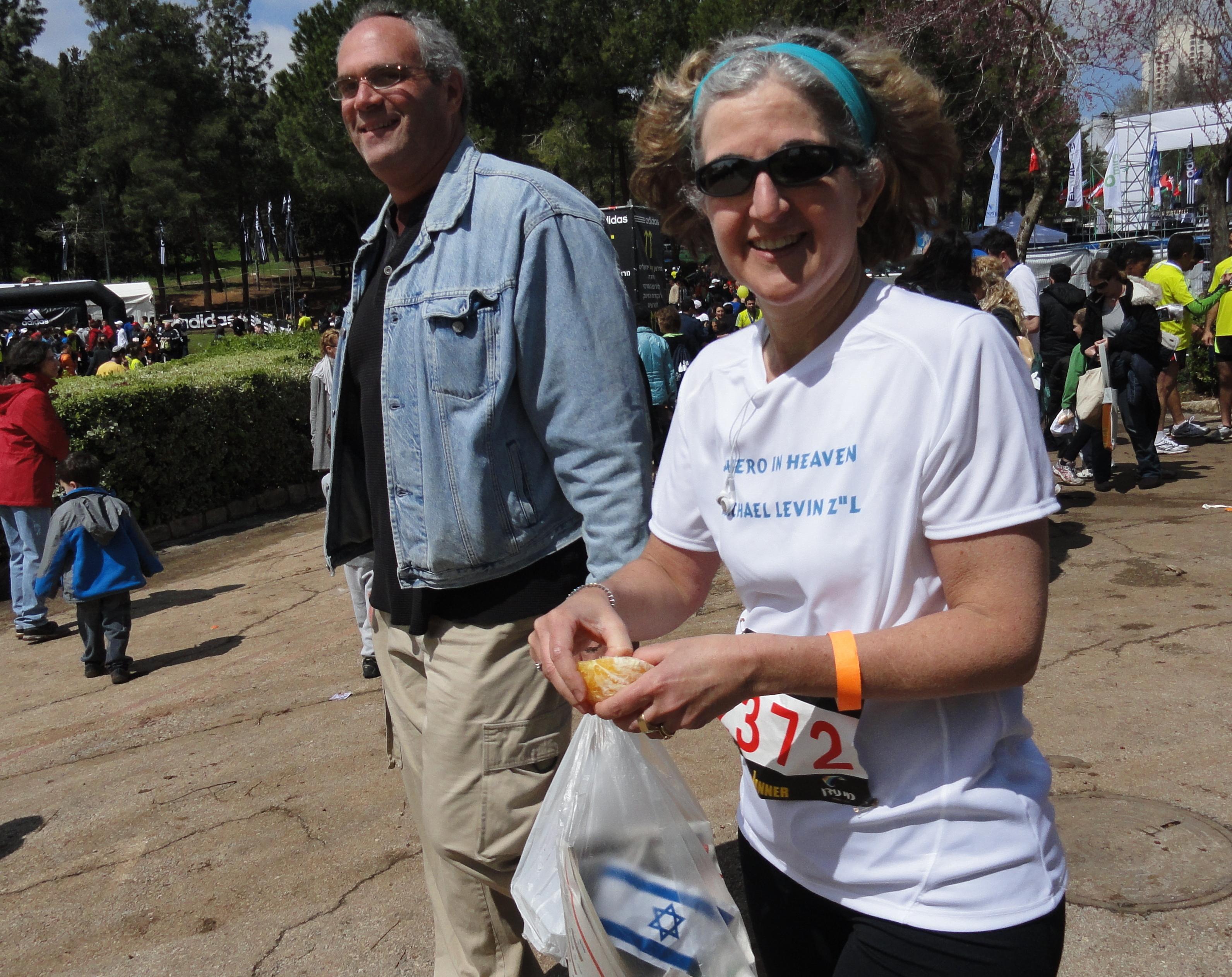 Jerusalem marathon runners image