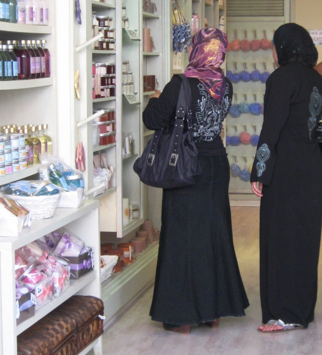 Palestinian woman shopping