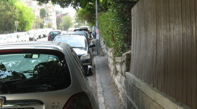 """picture narrow sidewalk"", ""Photo sidewalk Jerusalem"",""image Jerusalem sidewalk"""