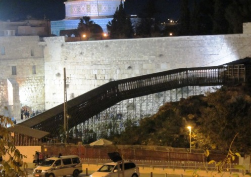 Mughrabi Bridge in Jerusalem