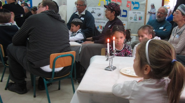 Shabbat candles, Shabat candles, Shabat party in school
