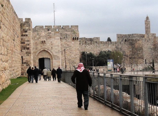 """Palestinian men"", 'Muslim prayers"", ""Israeli apartheid"""