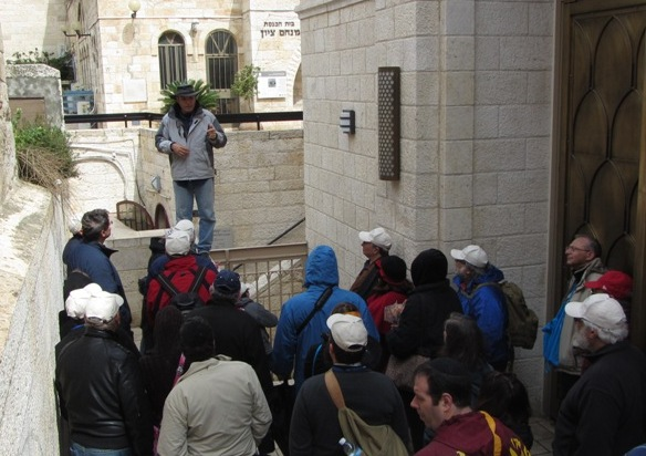 """street in Old City"", ""Hurva Synagogue"" , ""tour guide'"