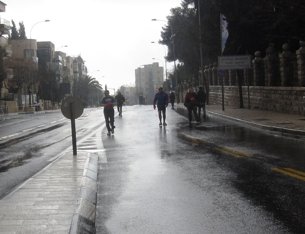 """wet street', ""rainy day"""