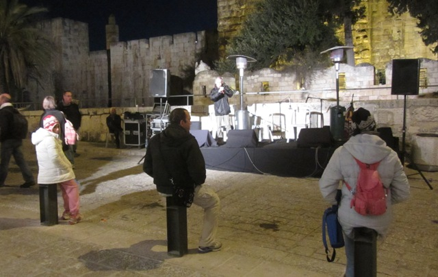 """music fans"" , ""photo of stage"", ""Jerusalem photo"""
