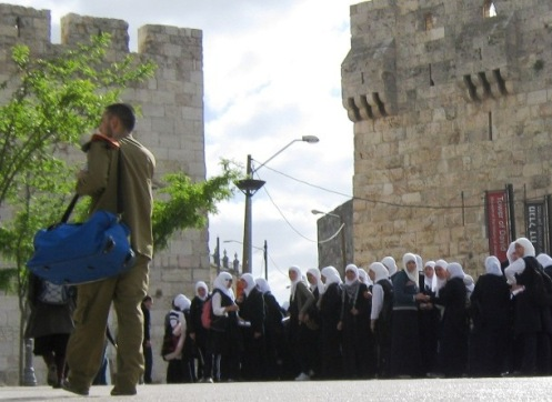 """Palestinian school girls"", "" Israel soldier"" , ""Muslim girls"""