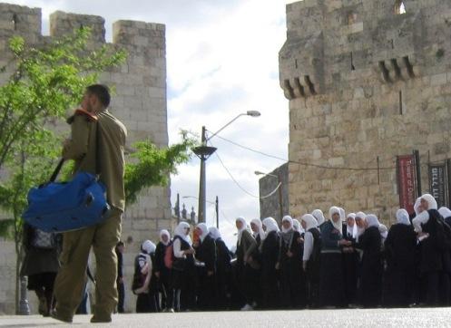 """Palestinian school girls"", "" Israel soldier"" , ""Muslim girls"""