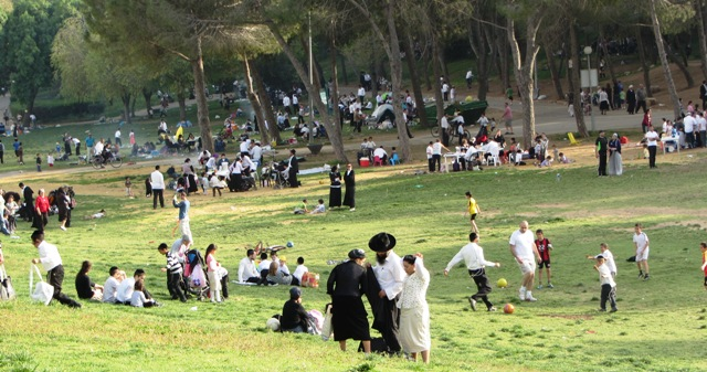 """picture of picnic', ""image of park"", ""photo of picnic in Jerusalem"""