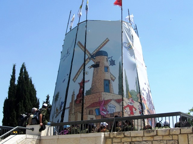 """photo windmill"", ""image windmill"", ""picture Jerusalem windmill"""