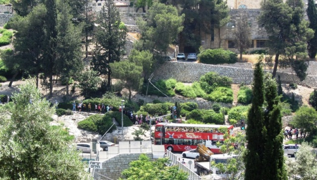"""photo Jerusalem"", ""image double decker bus"", ""photo J Street"""
