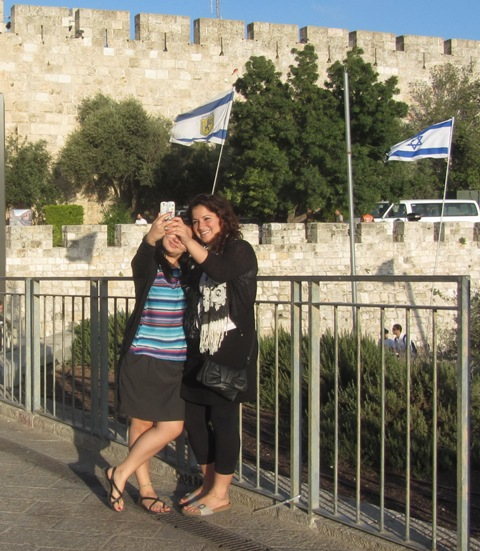""" photo Jaffa Gate"", ""image girls"", ""picture Old City Walls"""