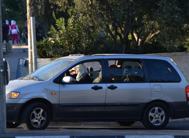 Arab woman driving