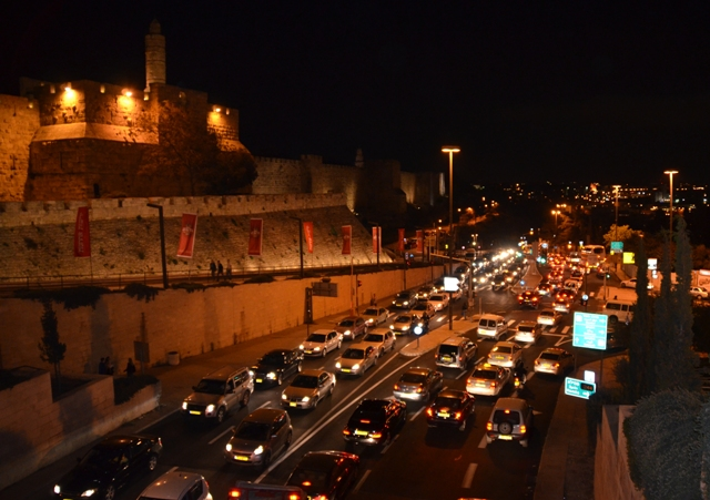 Picture Jerusalem at night