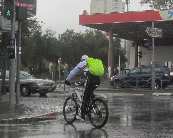 bike in rain