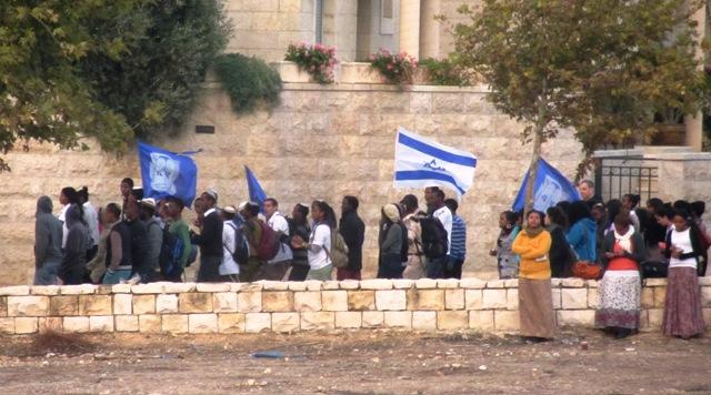 Bnei Akiva, flags, RJSTreets, Jerusalem phtography
