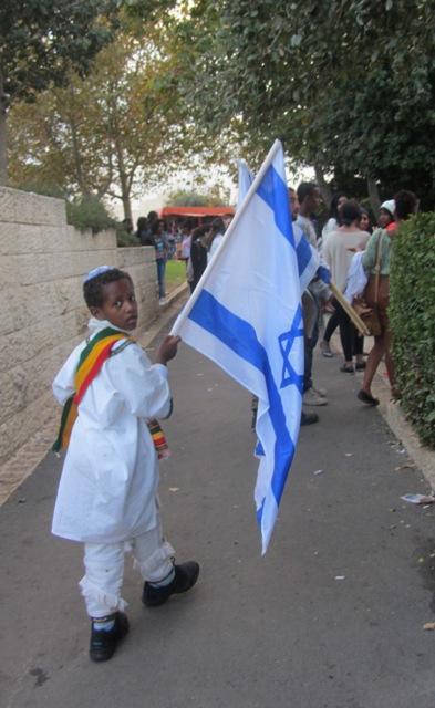 Israeli flag, Jerusalem photography