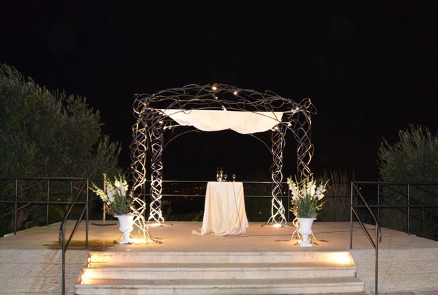 chuppah at night photo