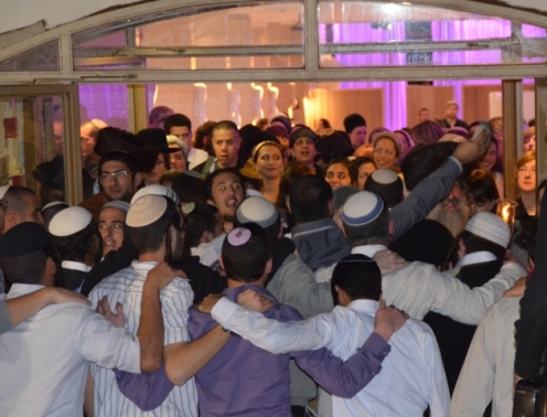 dancing at Jewish wedding photo