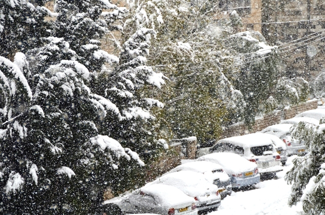 snow in Jerusalem photo