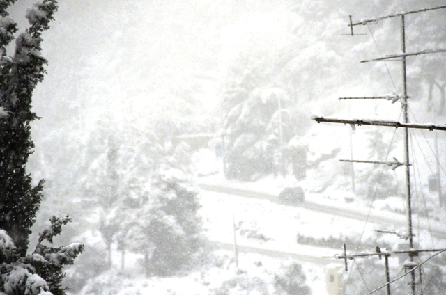 snow in Jerusalem photo