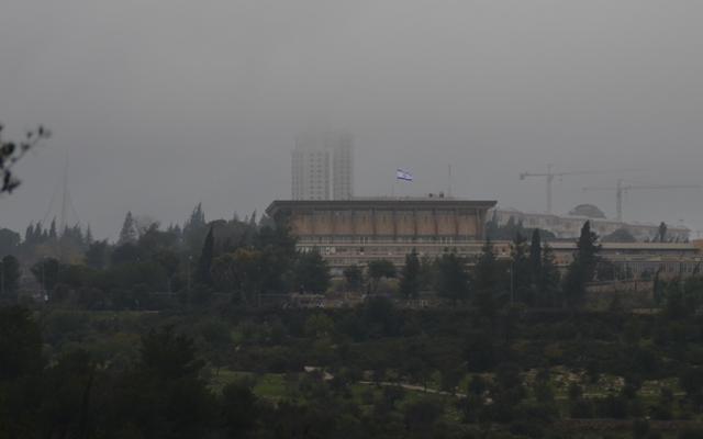 stormy weather Jerusalem