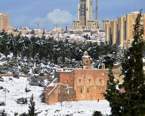 Jerusalem in snow photo