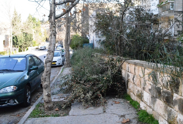blocked sidewalks