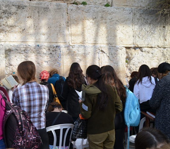soldier at Wailing Wall