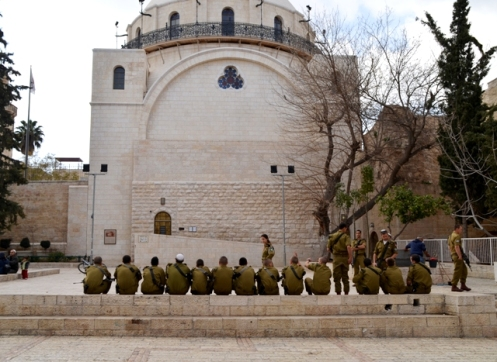 Hurva synagogue, Israeli soldiers, Jerusalem photo, J Street