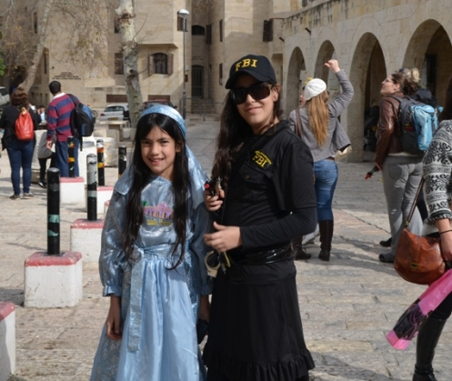 Purim costumes children, Purim Jerusalem, photos costumes