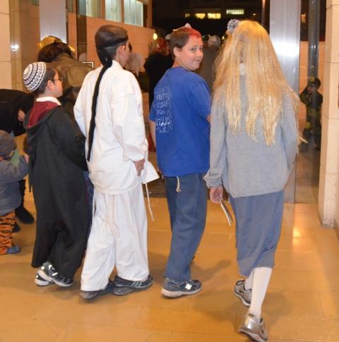 Purim costume, Jerusalem photo