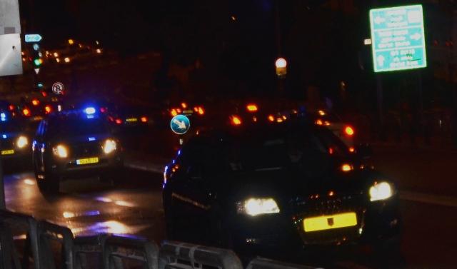 Peres car at night