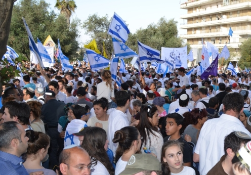 image Jerusalem Day crowd