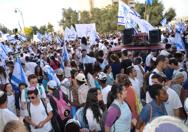 Jerusalem Day crowd