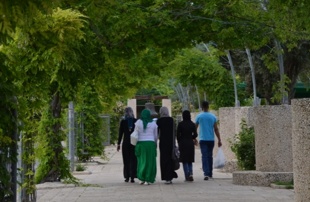 Muslim family Israel, Arabs walking .in Jerusalem, J Street photo,
