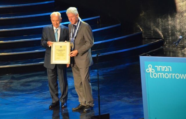 photo Shimon Peres and Bill Clinton