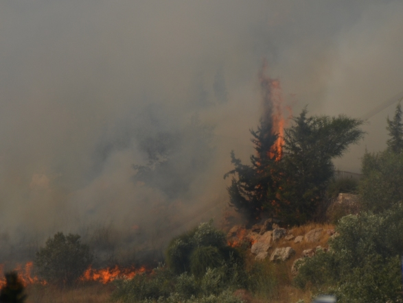 photo fire in Jerusalem