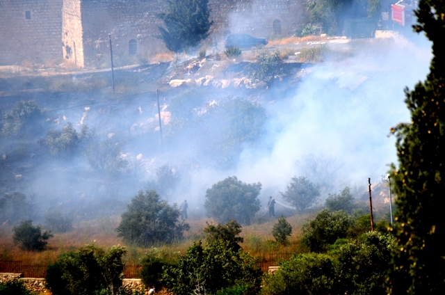 photo smoke and fire in Jerusalem