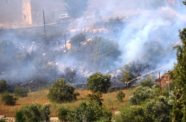 photo fire in Jerusalem